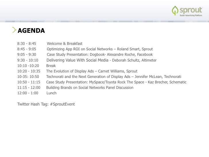 Building brands on social networks<br />A Half-Day Summit by Sprout<br />http://sproutinc.com<br />