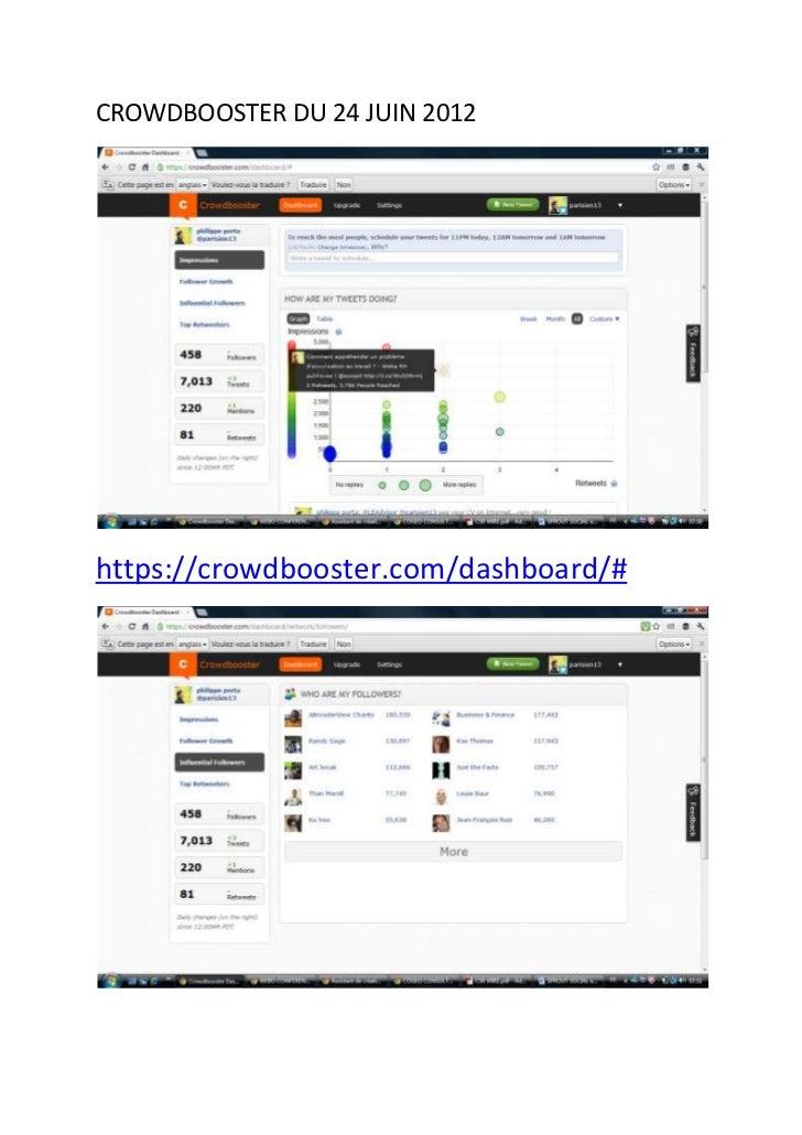 Sprout social et crowdbooster 24 juin 2012