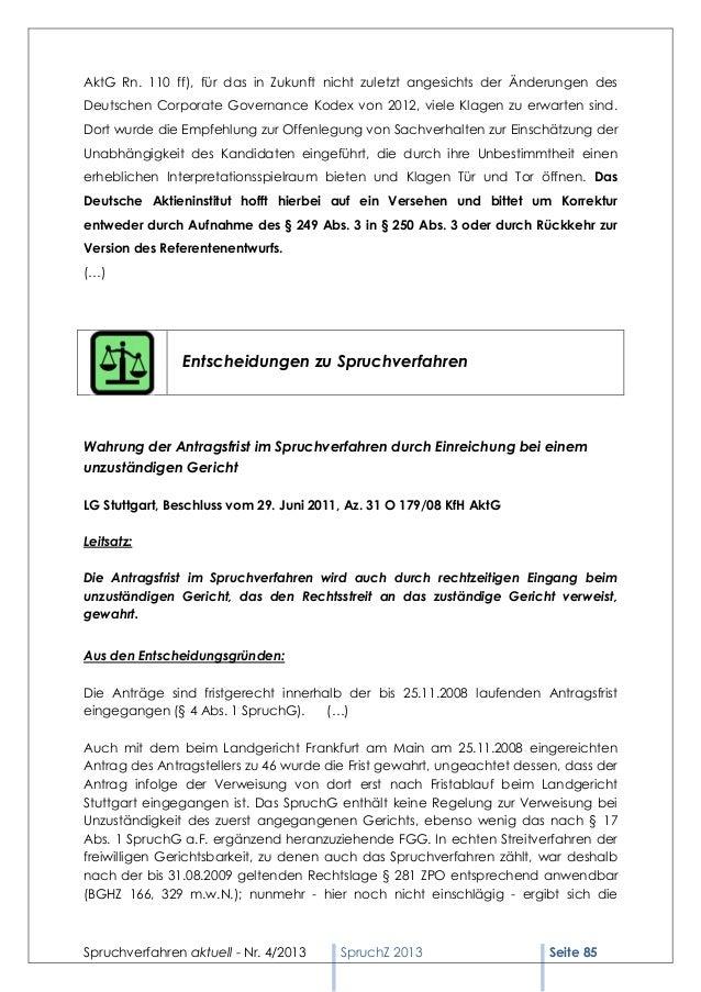 AktG Rn. 110 ff), für das in Zukunft nicht zuletzt angesichts der Änderungen desDeutschen Corporate Governance Kodex von 2...