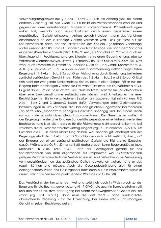 Verweisungsmöglichkeit aus § 3 Abs. 1 FamFG. Durch die Anhängigkeit bei einemanderen Gericht (§ 281 Abs. 2 Satz 1 ZPO) ble...