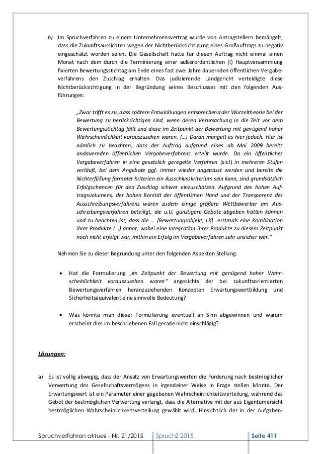 Spruchverfahren Aktuell Spruchz Nr 212016