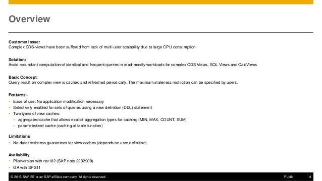 Whats New on SAP HANA SPS 11 Core Database Capabilities