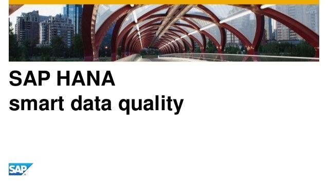 SAP HANA smart data quality