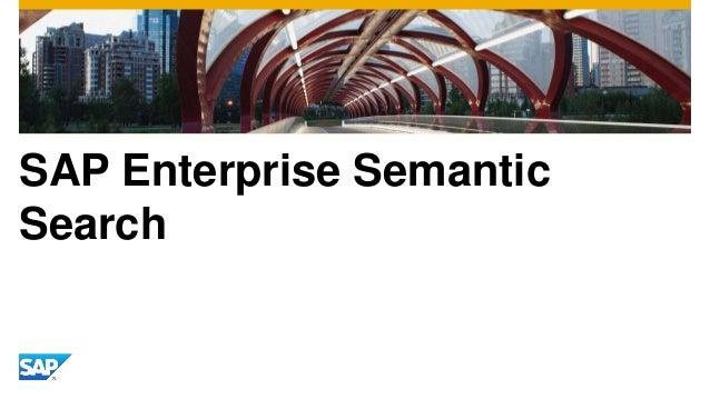 SAP Enterprise Semantic Search