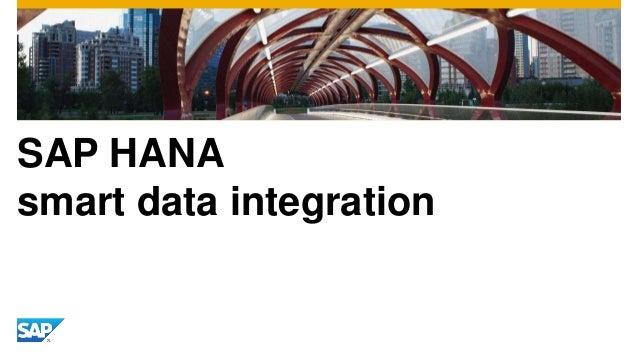 SAP HANA smart data integration