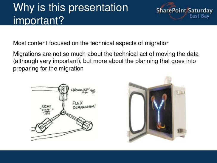 Why is this presentation important?<br />Most content focused on the technical aspects of migration<br />Migrations are no...