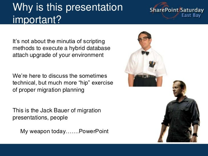 Why is this presentation important?<br />It's not about the minutia of scripting methods to execute a hybrid database atta...