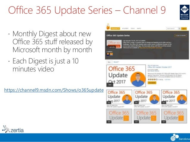 SPS Barcelona 2017 - How to Keep Up with Changes in Office 365