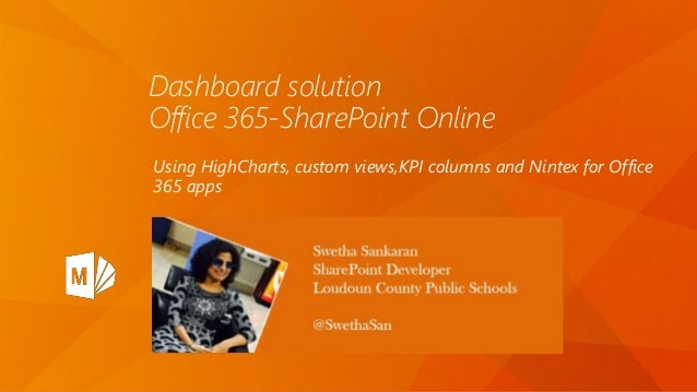 Dashboard with HighCharts in Office 365, SharePoint Online