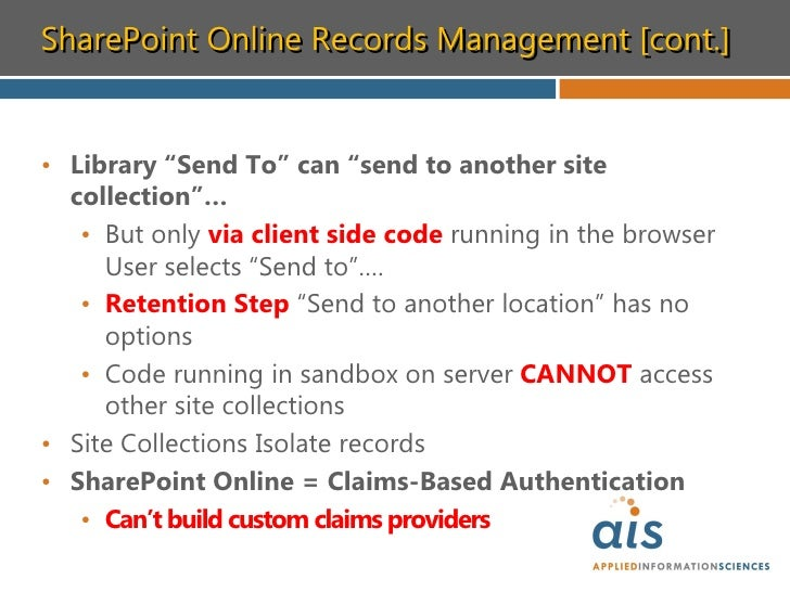 Records management in sharepoint 2010