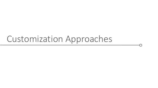 Customization Approaches