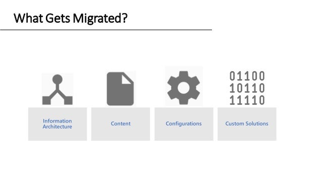 What Gets Migrated?