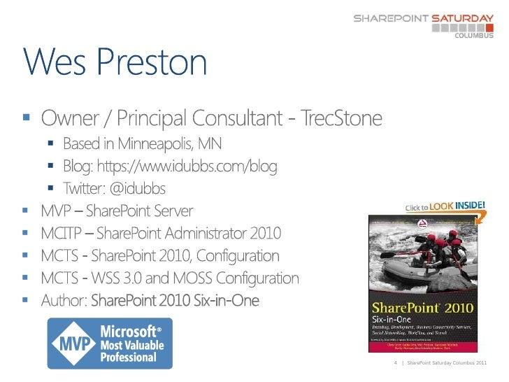 Wes Preston<br />Owner / Principal Consultant - TrecStone<br />Based in Minneapolis, MN<br />Blog: https://www.idubbs.com/...