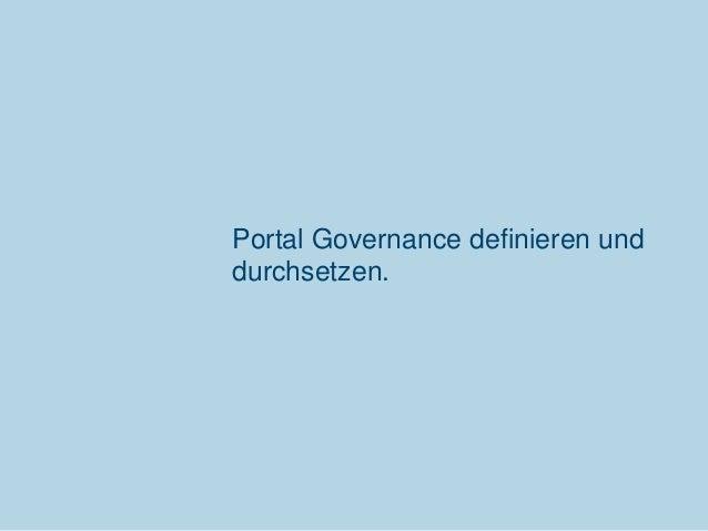 Portal Governance definieren und durchsetzen.  Communardo Software GmbH · Kleiststraße 10 a · D-01129 Dresden/Germany · Fo...