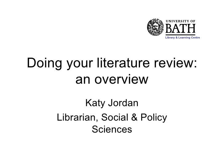 doing literature review This handout will explain what literature reviews are and offer insights into the form and construction what should i do before writing the literature review.