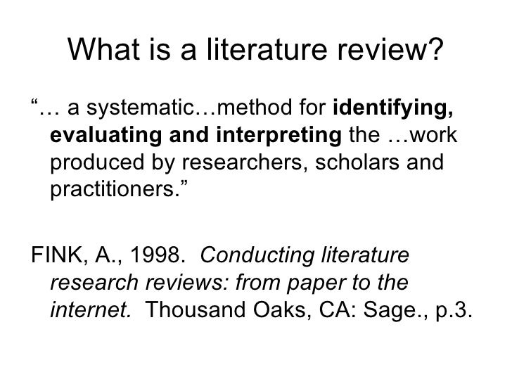 conducting research literature reviews internet paper arlene fink Request pdf on researchgate | conducting research literature reviews : from paper to internet / a fink | obra de carácter metodológico relativa a la identificación, interpretación y .