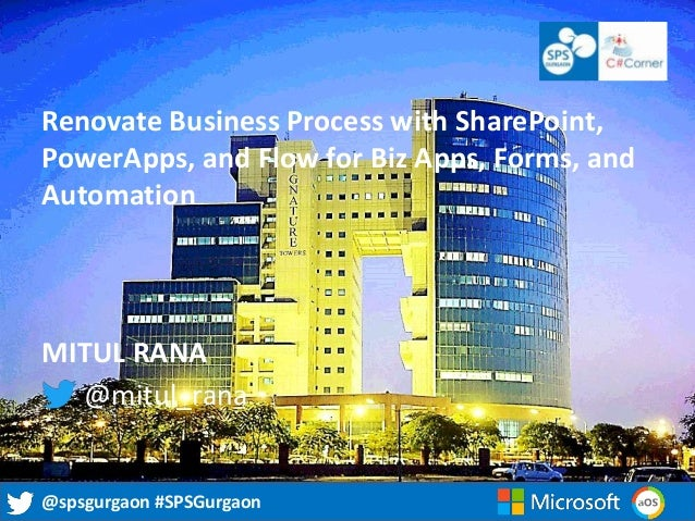 Renovate Business Process with SharePoint, PowerApps, and