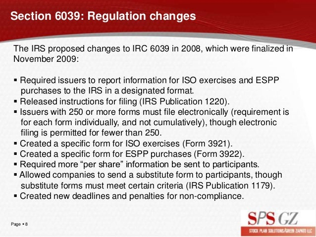 Irc Section 6039 Are You Ready To Comply