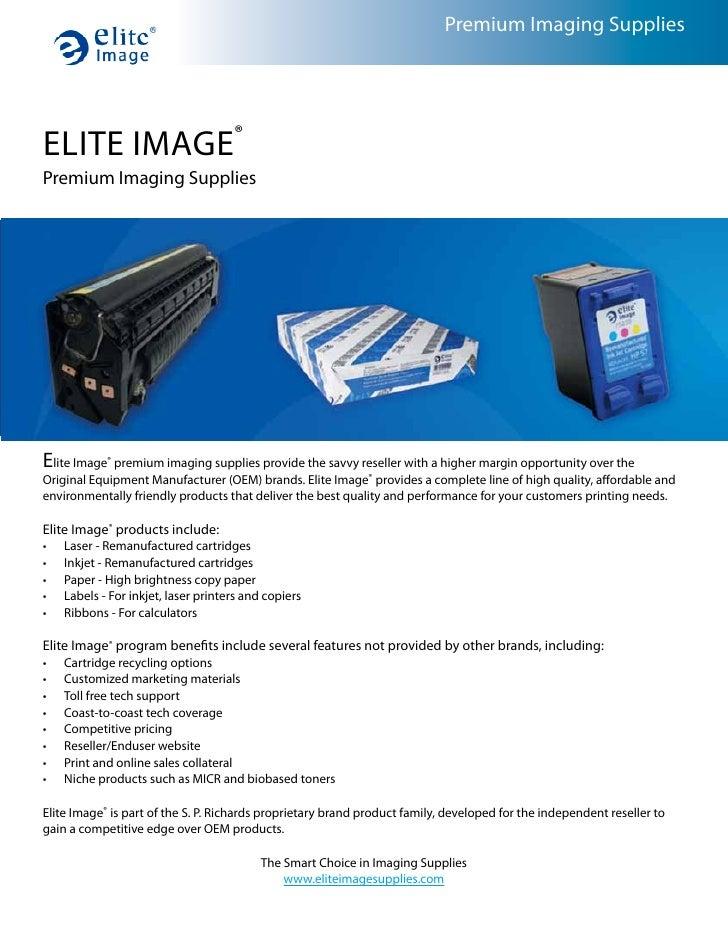 Premium Imaging Supplies     ELITE IMAGE® Premium Imaging Supplies     Elite Image® premium imaging supplies provide the s...