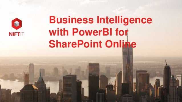 1 Business Intelligence with PowerBI for SharePoint Online