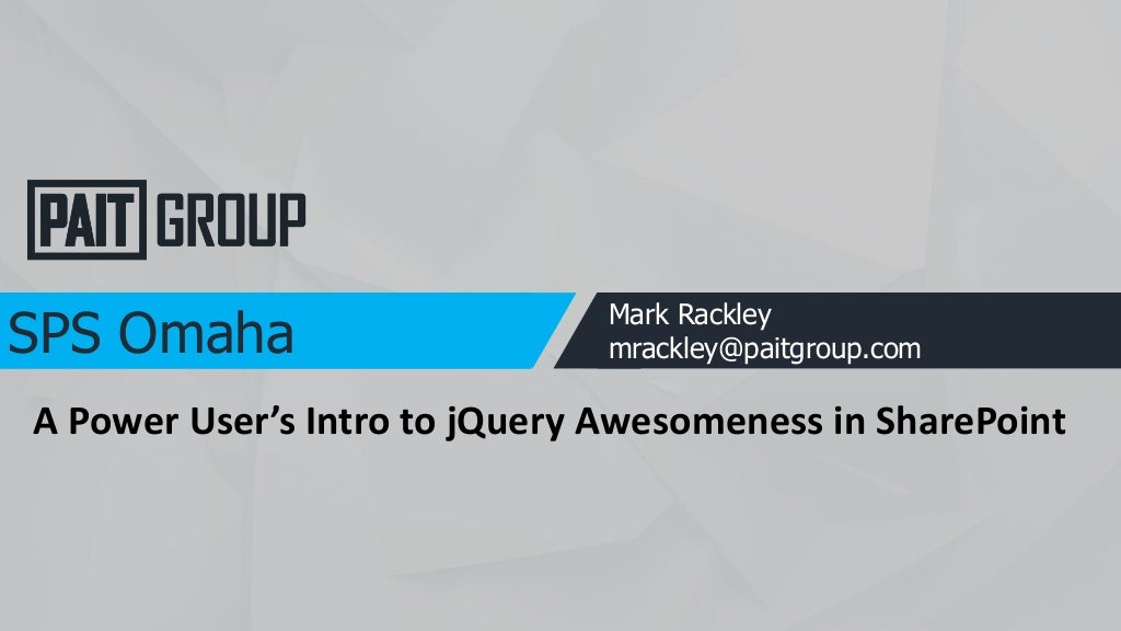 Citizen Developers Intro to jQuery Customizations in SharePoint