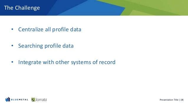 Leveraging User Profiles and MySites Slide 3