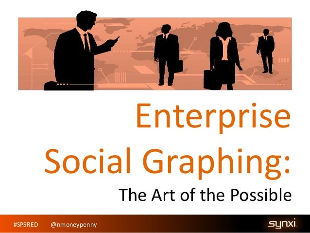 #SPSRED @nmoneypenny Enterprise Social Graphing: The Art of the Possible