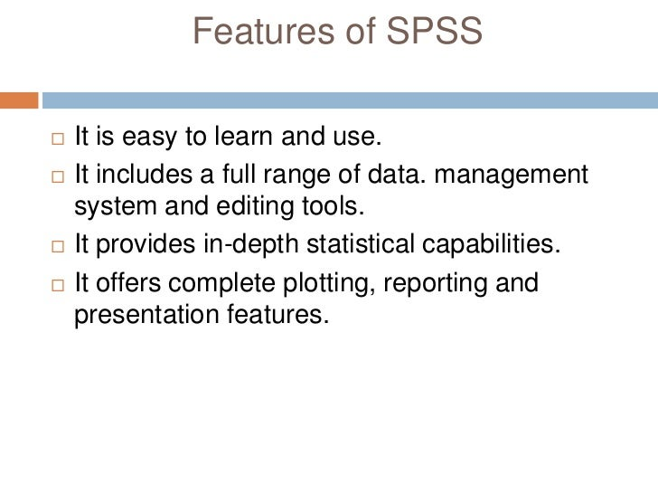 spss is easy to use Spss tutorials: independent samples t test  spss can only make use of cases that have nonmissing values for the independent and the dependent variables, so if a .