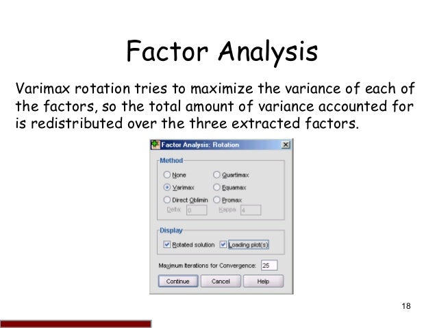 how to run a factor analysis in spss