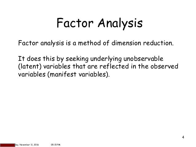 factor analysis thesis spss University of south florida scholar commons graduate theses and dissertations graduate school january 2013 an analysis of factor extraction strategies: a.