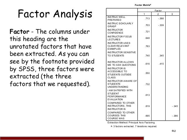 how to make factors in spss