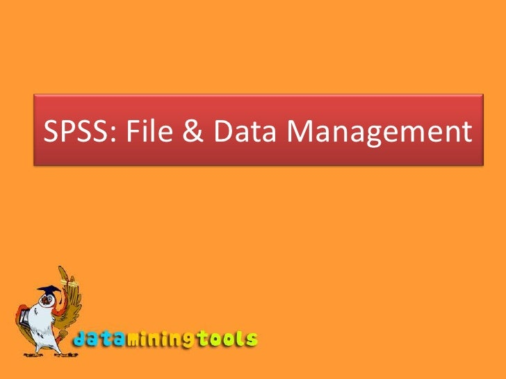 SPSS: File & Data Management<br />