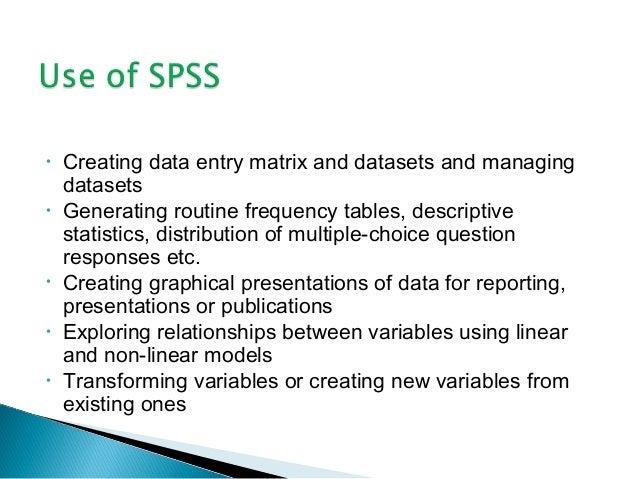 spss guidelines