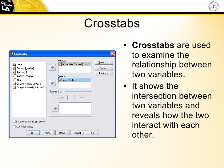 measure relationship between two variables spss statistical software
