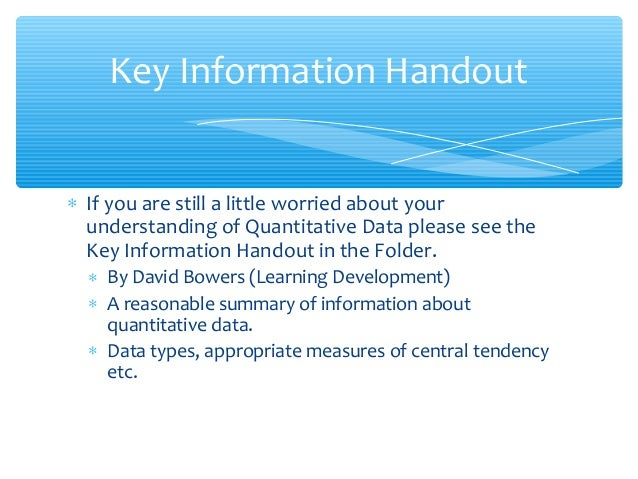 Spss introductory session data entry and descriptive stats