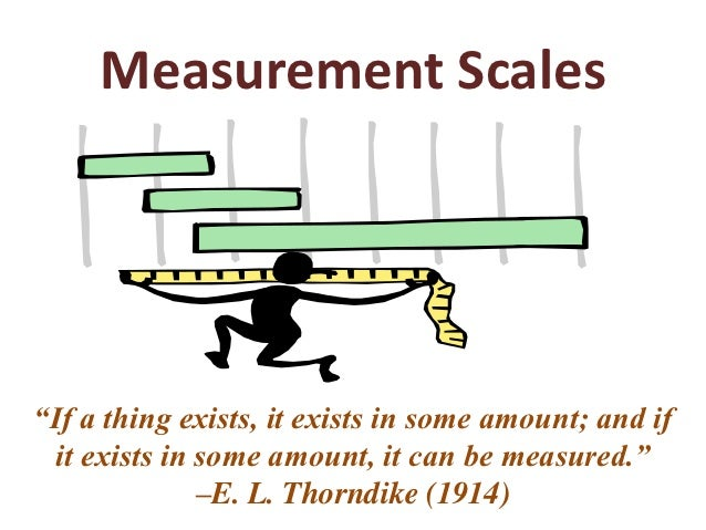 "Measurement Scales""If a thing exists, it exists in some amount; and if  it exists in some amount, it can be measured.""    ..."