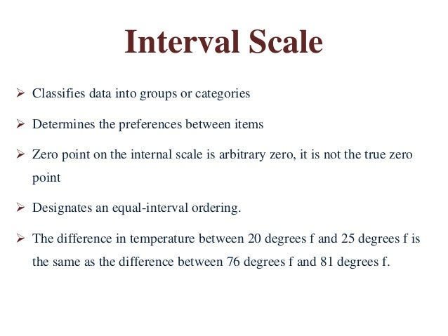 how to know difference between interval and ratio