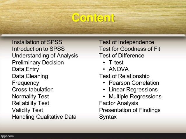 Workshop on SPSS: Basic to Intermediate Level Slide 3