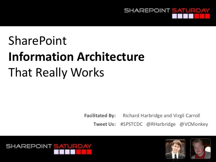 SharePointInformation Architecture That Really Works<br />Facilitated By:      Richard Harbridge and Virgil Carroll<br />T...