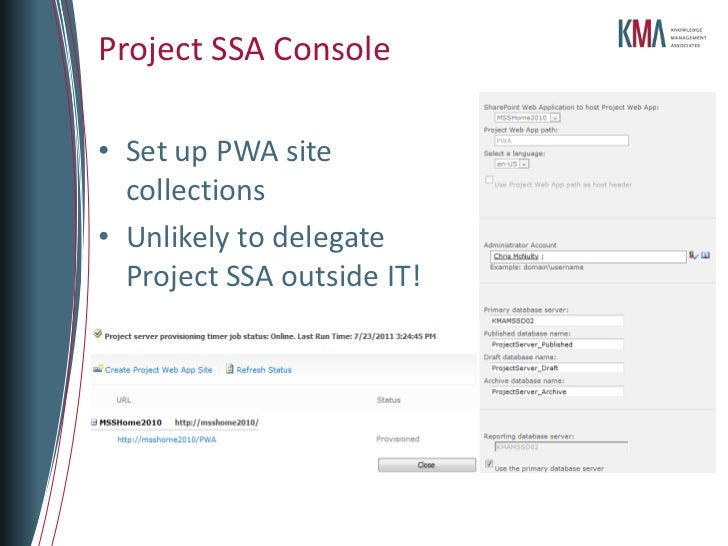 spstcdc - project server and sharepoint 2010