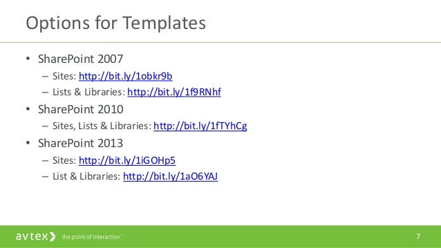 Sps twin cities congratulations you inherited a for Sharepoint 2007 site templates