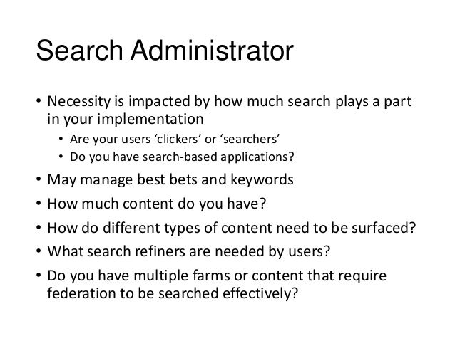 reporting 32 31search administrator sharepoint administrator duties - Sharepoint Administrator Duties