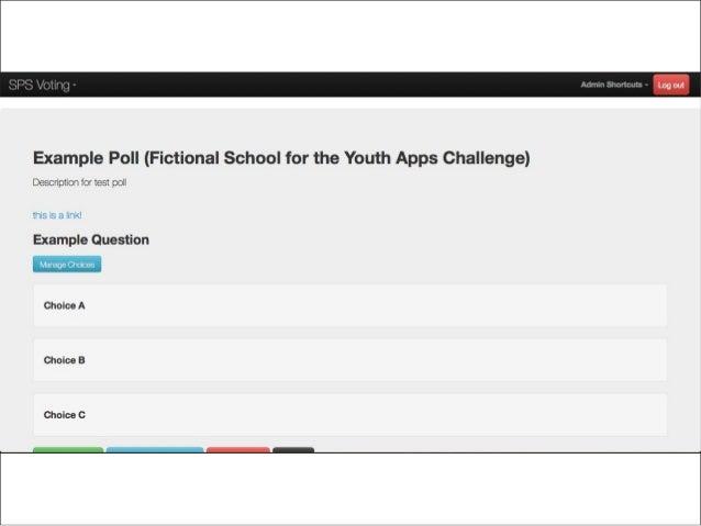 SPS Voting Web App WireFrames