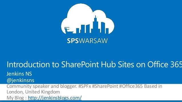 Jenkins NS @jenkinsns Community speaker and blogger. #SPFx #SharePoint #Office365 Based in London, United Kingdom My Blog ...