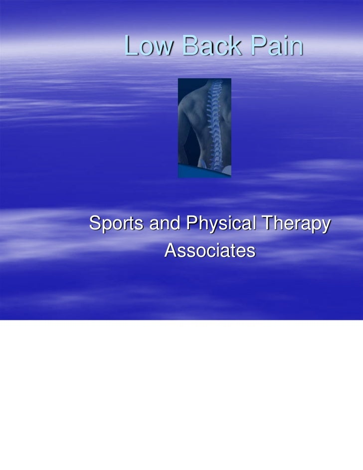 Low Back PainSports and Physical Therapy        Associates