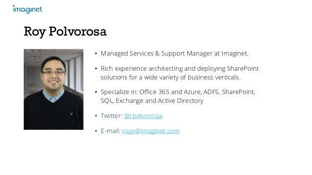 MinRole and SharePoint 2016 Slide 2