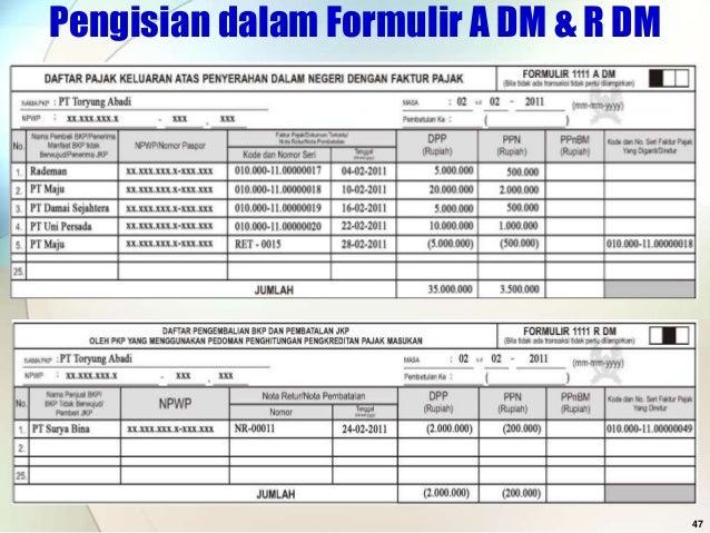 formulir spt masa ppn 1111 dm excel