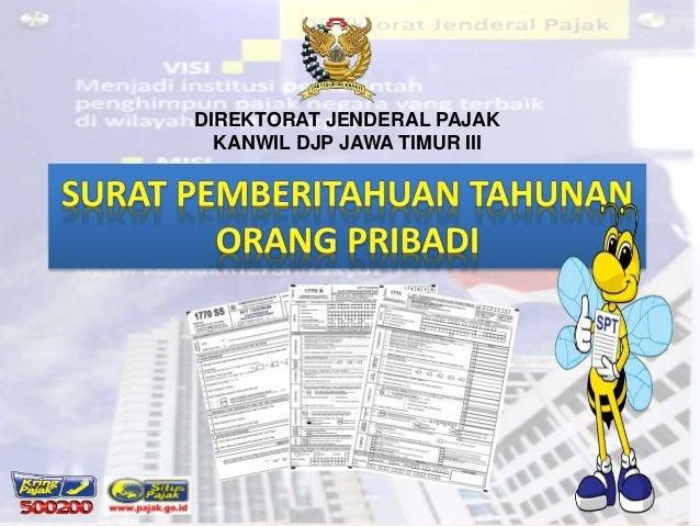 DIREKTORAT JENDERAL PAJAK  KANWIL DJP JAWA TIMUR III
