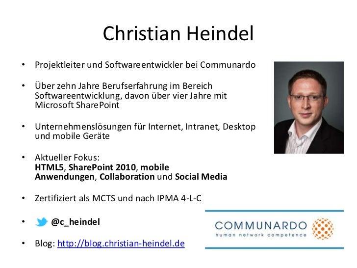 SharePoint, HTML5 und mobile Geräte (SharePoint UserGroup Dresden 11/2011) Slide 2
