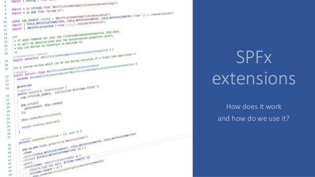 SPFx extensions How does it work and how do we use it?